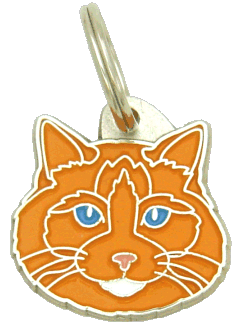 Ragdoll cat orange - pet ID tag, dog ID tags, pet tags, personalized pet tags MjavHov - engraved pet tags online